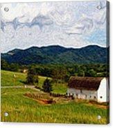 Impressionist Farming Acrylic Print by John Haldane