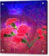 Impressions Of Pink Carnations Acrylic Print by Joyce Dickens