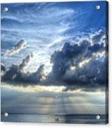 In Heaven's Light - Beach Ocean Art By Sharon Cummings Acrylic Print by Sharon Cummings