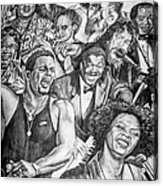 In Praise Of Jazz Acrylic Print by Steve Harrington