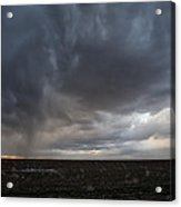 Incoming Storm Over A Cotton Field Acrylic Print by Melany Sarafis