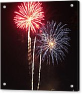 Independence Day Sparklers Acrylic Print by Deborah Smolinske