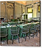 Independence Hall Acrylic Print by Olivier Le Queinec