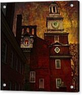 Independence Hall Philadelphia Let Freedom Ring Acrylic Print by Jeff Burgess