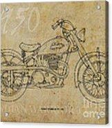 Indian Warrior Tt 1950 Acrylic Print by Pablo Franchi