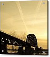 Indiana Ky Bridge Acrylic Print by Off The Beaten Path Photography - Andrew Alexander