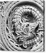 Indiana University Limestone Detail Acrylic Print by University Icons