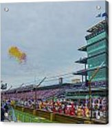 Indianapolis 500 May 2013 Balloons Race Start Acrylic Print by David Haskett