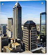 Indianapolis Aerial Picture Of Downtown Office Buildings Acrylic Print by Paul Velgos