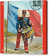 Infantry Of The Line Drummer With Fgb Border Acrylic Print by A Morddel