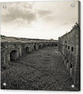 Inside Fort Macomb Acrylic Print by David Morefield