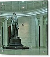 Inside The Jefferson Memorial Acrylic Print by Metro DC Photography