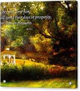 Inspirational - Prosperity - Job 36-11 Acrylic Print by Mike Savad