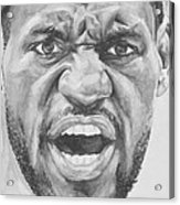 Intensity Lebron James Acrylic Print by Tamir Barkan