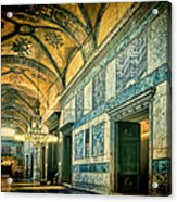 Interior Narthex Acrylic Print by Joan Carroll