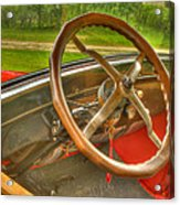 Interior Of A 1926 Model T Ford Acrylic Print by Thomas Young