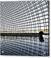 Interior Of The National Grand Theatre - Beijing China Acrylic Print by Brendan Reals