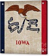 Iowa State Flag Acrylic Print by Pixel Chimp