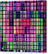 Iphone Cases Colorful Intricate Geometric Covers Cell And Mobile Phone Art Carole Spandau Cbs 169  Acrylic Print by Carole Spandau