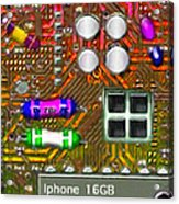 Iphone I-art M118 Square Acrylic Print by Wingsdomain Art and Photography