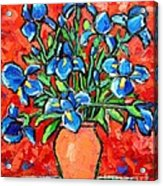 Iris Bouquet Acrylic Print by Ana Maria Edulescu