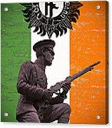 Irish 1916 Volunteer Acrylic Print by David Doyle