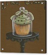 Irish Cream Cupcake Acrylic Print by Catherine Holman