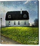 Irish Thatched Roofed Home Acrylic Print by Juli Scalzi