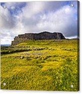 Iron Age Ruins Of Dun Aengus On The Irish Coast Acrylic Print by Mark E Tisdale