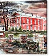 Iron County Courthouse No W102 Acrylic Print by Kip DeVore