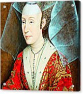Isabella Of Portugal 1397-1471 Acrylic Print by Li   van Saathoff