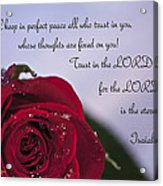 Isaiah 26 3 4 Acrylic Print by Inspirational  Designs