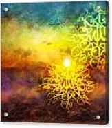 Islamic Calligraphy 020 Acrylic Print by Catf