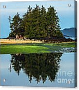 Island Reflection Acrylic Print by Robert Bales