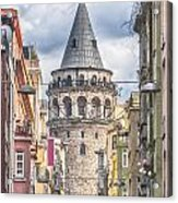 Istanbul Galata Tower Acrylic Print by Antony McAulay