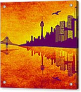 It Was Us That Scorched The Sky Acrylic Print by Angelina Vick