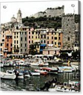 Italian Seaside Village Acrylic Print by Jim  Calarese