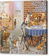 It's A Dog's World Acrylic Print by Victor Powell