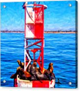 It's Lonely At The Top Acrylic Print by Michael Pickett