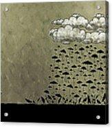It's Raining Umbrellas Acrylic Print by Gianfranco Weiss