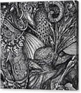 Jabberwockie Acrylic Print by Otto Rapp