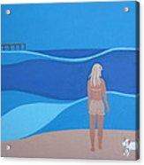 Jack At The Beach Acrylic Print by Sandra McHugh