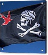 Jack Sparrow Pirate Skull Flag Acrylic Print by Garry Gay