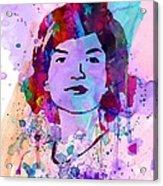 Jackie Kennedy Watercolor Acrylic Print by Naxart Studio