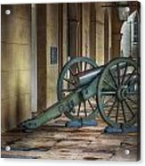 Jackson Square Cannon Acrylic Print by Brenda Bryant