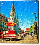 Jackson Square Painted Version Acrylic Print by Steve Harrington