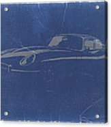 Jaguar E Type Acrylic Print by Naxart Studio