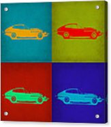 Jaguar E Type Pop Art 1 Acrylic Print by Naxart Studio