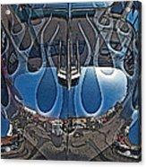 Jalopy Hood Reflections Acrylic Print by Samuel Sheats
