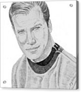 James Tiberius Kirk Acrylic Print by Thomas J Herring